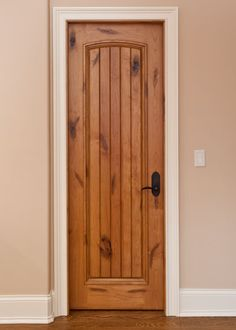 Rustic Craftsman Interior Closet Door Square Top Rail 6 Panel A1 Knotty Alder Yampa River