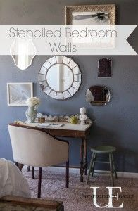 Stenciled Bedroom Wall at Unexpected Elegance