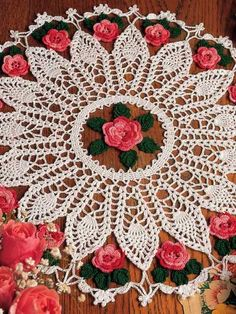 Roses and Pineapples doily pattern $2.29