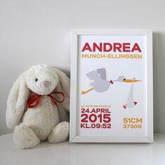 Birth Poster for girls