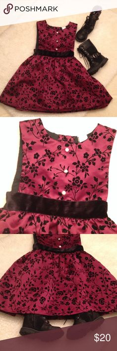 Girls dress Darling dress up dress with waist belt , button back in good condition. 100% polyester Dresses Formal