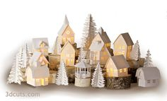 I have just released 3 new buildings for Tea Light Village. For 2016 the Dormer House, Grange Meeting Hall and Town Gazebo have been added to the collection. You can buy the entire collection or just the 3 new additions here. 3d Christmas, Christmas Villages, Christmas Decorations, Xmas, 3d Cuts, Dormer House, Paper Cutting Machine, Papier Diy, House Template