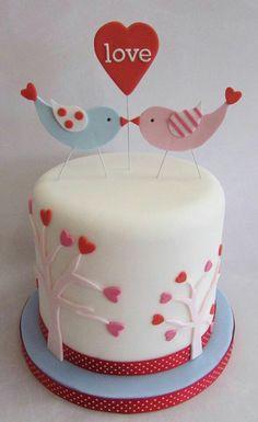 Love Birds Wedding Cake