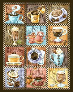 Coffee Break– original art print Kaffeepause – Original Kunstdruck 8 X 11 X 14 I Love Coffee, Coffee Break, My Coffee, Morning Coffee, Project Life Karten, Pause Café, Coffee Theme, Coffee Poster, Decoupage Paper