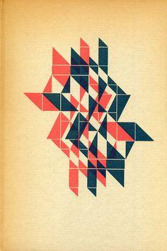 "metal slug letterpress illustration by Alvin Lustig for Aldus Huxley's ""Words and Their Meanings"""