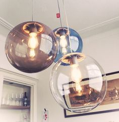 Drop Lights, Red Design, Scandinavian Home, Decoration, Lighting Design, Light Fixtures, Home Goods, Sweet Home, New Homes