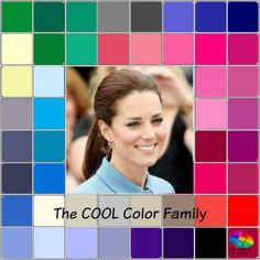 The COOL color family - Duchess of Cambridge #cool coloring #cool color…