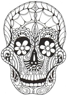 224 Best Day Of The Dead Color Pages Images Coloring Sheets