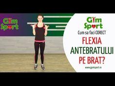 Cum sa faci corect flexia antebratului pe brat? Activities For Kids, Health Fitness, Youtube, Gym, Romania, Sports, Board, Hs Sports, Children Activities