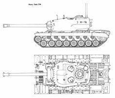 T30 Heavy Tank blueprint