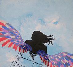 FREE AS A BIRD by Lady Lu * E-SHOP :  www.fler.cz/love * WEBSITE : www.ladylu.cz // www.facebook.com/ladylu.cz * #art #ladylu #kunst #umění #interior #home #café #painting #malba #akryl #acrylic #gallery #interiér #domov