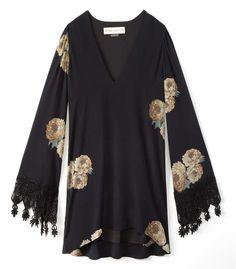 Stone Cold Fox Floral Print Dress - Shop more black hues perfect for summer: http://www.harpersbazaar.com/fashion/fashion-articles/style-qa-summer-black