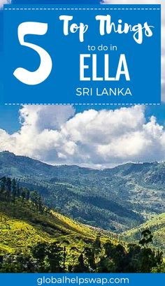 Things to do in Ella Sri Lanka. Make the most of your Ella Sri Lanka trips. Find the best hotels, resorts waterfalls, restaurants, activities. Take the most beautiful train ride and enjoy the gorgeous nature.