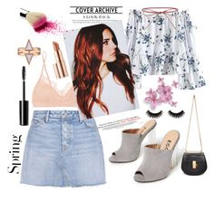 """""""lana del rey"""" by voicu-ana ❤ liked on Polyvore featuring GRLFRND, STELLA McCARTNEY, Chloé, Elizabeth and James, H&M, Charlotte Russe, She's So and Estée Lauder"""