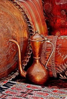 Traditional Turkish Copperware and Rugs                              … …