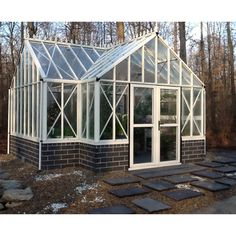Royal Orangerie Antique Greenhouse - Add old fashioned English style to your backyard with the Royal Orangerie Antique Greenhouse , which is made with a T-shaped design and offers a...