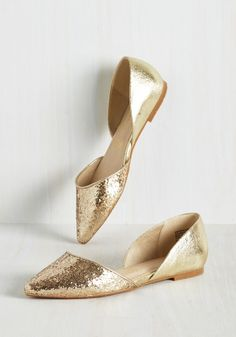 Miss Fancy Prance Flat in Gold by BC Footwear - Gold, Solid, Glitter, Special Occasion, Prom, Party, Girls Night Out, Holiday Party, Homecoming, Luxe, Best, Metallic, Flat