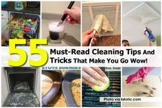 55 Must-Read Cleaning Tips And Tricks That Make You Go Wow!