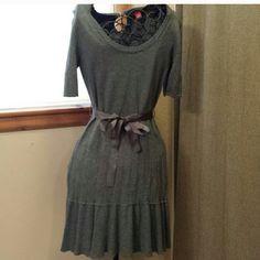 Grey sweater dress Grey sweater dress, never worn, enjoy this sweet dress from smoke free home Elle Dresses