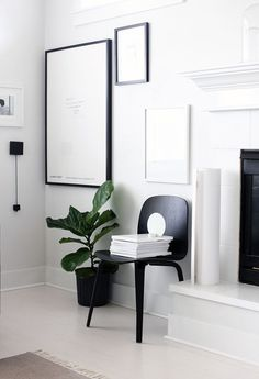 Via A Merry Mishap | Muuto Visu Chair | Black and White