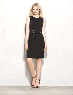4-Button Sheath Dress