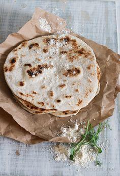 Coconut (and regular flour) tortilla - kookostortillat Coconut Flour Recipes, Vegan Bread, Healthy Gluten Free Recipes, Flour Tortillas, Camembert Cheese, Food To Make, Quiches, Eat, Drink