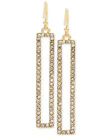 M. Haskell for INC Gold-Tone Rectangular Pavé Drop Earrings, Only at Macy's