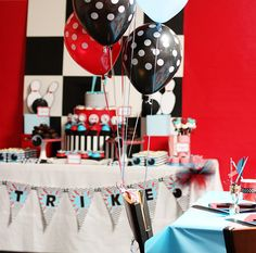 Bowling Party - Party Table- Amanda's Parties To Go