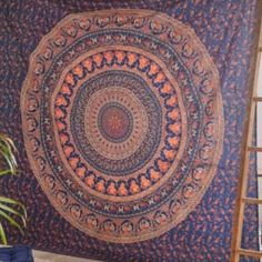 """❤️NWT blue Urban Outfitters Tapestry❤️ NWT soft cotton tapestry from urban outfitters.  perfect piece for topping off your bed or favorite chair.  Also can be used at the beach or festival.  made of cotton  machine washable 90"""" x 86""""  Fast Priority Ship usually same day or next day!!   Bundle for best price Urban Outfitters Accessories"""