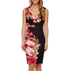 jcpenney.com | Bisou Bisou® Sleeveless Floral Bodycon Dress
