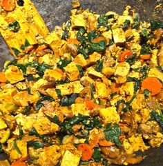 stuff yo face! • SPINACH TOFU SCRAMBLE     copy cat of amy's tofu scramble
