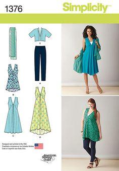 Misses' & Plus Size Jacket, Top, Dress & Leggings