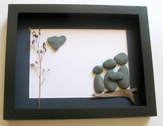 Personalized Family Gift and Custom Stone Art Work - Pebble Art on Etsy, $60.00 CAD