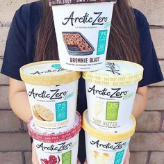 """""""YOU GUYS!! My dreams have officially come true  my freezer is fully stocked and I am ready to eat ... So ice cream for dinner is toally acceptable, right?! When the ice cream is #ARCTICZERO I don't even have to worry about how much I eat """" - @thewholesomebite . #thewholepint #lactosefree #gmofree #iifym #fitfrozendesserts"""