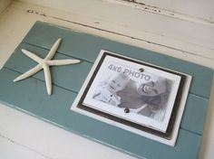 love the color of this picture frame and so easy to make