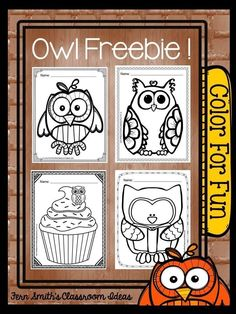 Fern Smith's Classroom Ideas: Tuesday Teacher Tips: Can't Celebrate Halloween At School? Throw an Owl Party Instead! FREE Color For Fun Owl Printable Coloring pages.