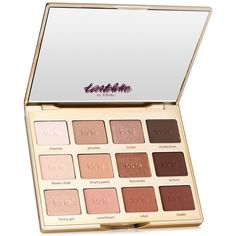 tarte tartelette in bloom clay eyeshadow palette (€43) ❤ liked on Polyvore featuring beauty products, makeup, eye makeup, eyeshadow, beauty, cosmetics, no color, eye shadow brush, eyeshadow brushes and tarte