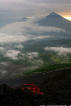 view from Pacaya Volcano, Guatemala --> i'll be going here too! :)