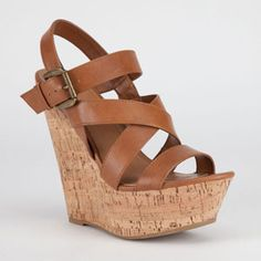 Faux leather platform wedges. Discover your favorite products at getrockerbox.com