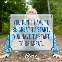 Get a fresh start on your goals! #Oster #MakeItFresh