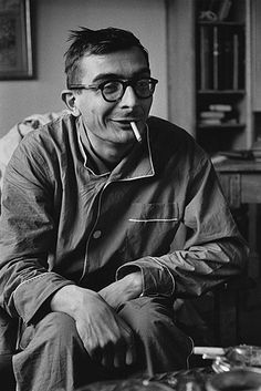 French film director Claude Chabrol photographed by Jean loup Sieff, 1959, member of the French New Wave group of filmmakers.