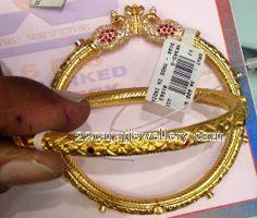 Jewellery Designs: Traditional Kankanalu 38 Grams