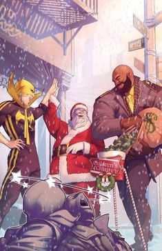 Power Man And Iron Fist: Sweet Christmas - Jamal Campbell