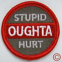 Demerit badge for stupid