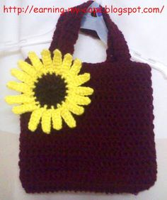 Beach bag with flowers #Bag #Beach #flowers | Horgolt