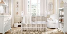 Victorian design in a nursery can be a great way to add femininity without painting everything pink