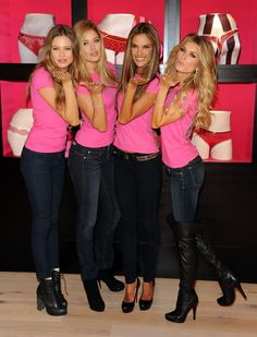 Marisa Miller Photos Photos - (L-R) Victoria's Secret Angels Behati Prinsloo, Doutzen Kroes, Alessandra Ambrosio and Marisa Miller share their holiday gift picks at the new Victoria?s Secret SoHo Store on November 18, 2009 in New York City. - Holiday Shopping With The  Victoria's Secret Supermodels