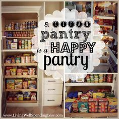 Great tips for how to organize your pantry.  Includes free printable pantry & freezer inventory sheets!