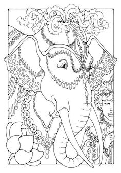 Elephant A Colouring Book Of Pictures And Patterns To Colour In