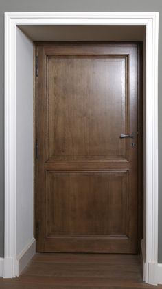 Luxury oak interior door with raised and filed panels | APF Joinery Solutions & Luxury wooden sculpted interior door with gold leaf | APF Joinery ...